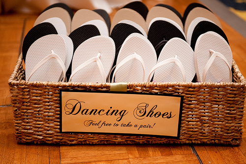 Flip Flops for wedding | Gala Wedding Facility Marietta, GA