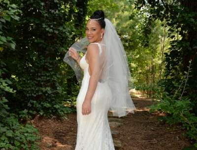 bride portrait at outdoor wedding venue in Marietta, GA