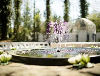 wedding venue water fountain in Marietta, GA