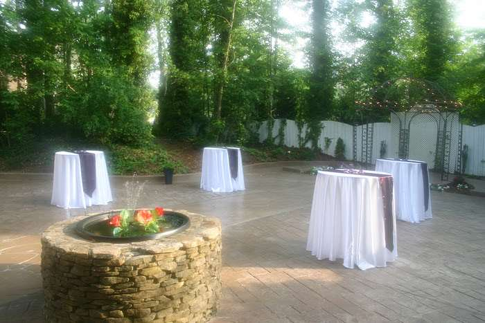 tables set up for outdoor special event in Marietta, GA