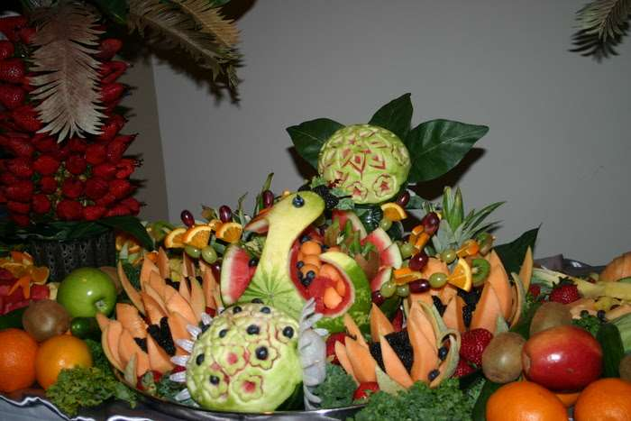 decorative fruit art for special event at Gala